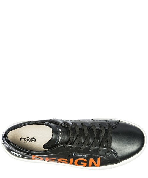 Men's shoes leather trainers sneakers frieze secondary image