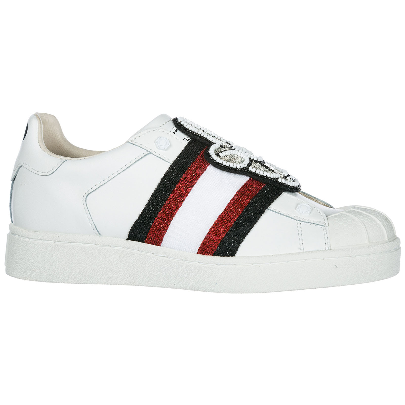 Women's shoes leather trainers sneakers mickey patch