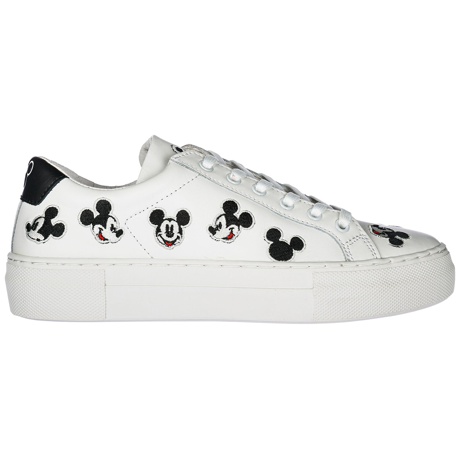 WOMEN'S SHOES LEATHER TRAINERS SNEAKERS MICKEY VICTORIA