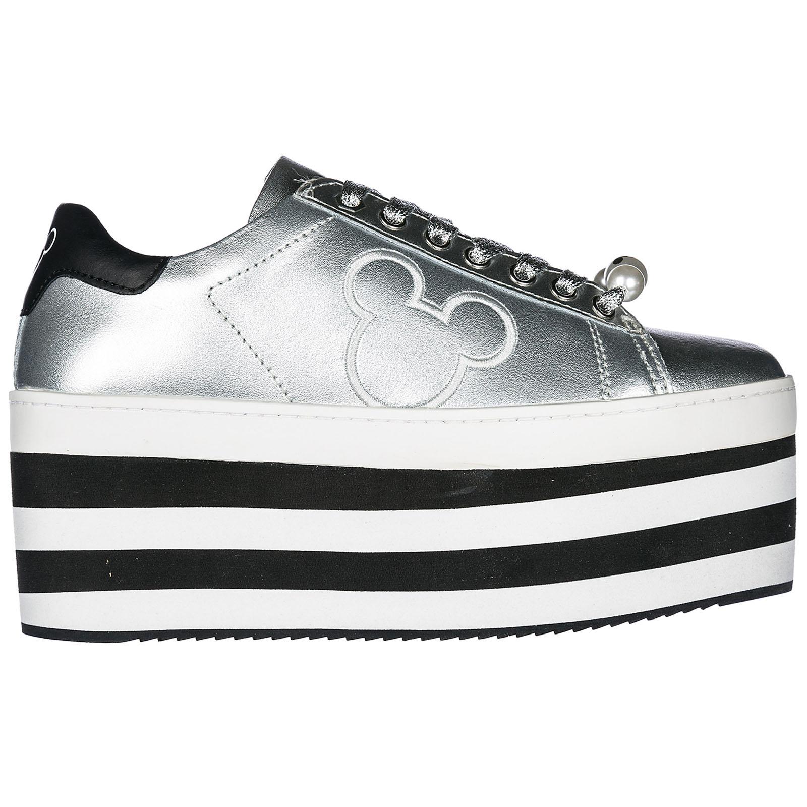 Scarpe sneakers donna in pelle mickey