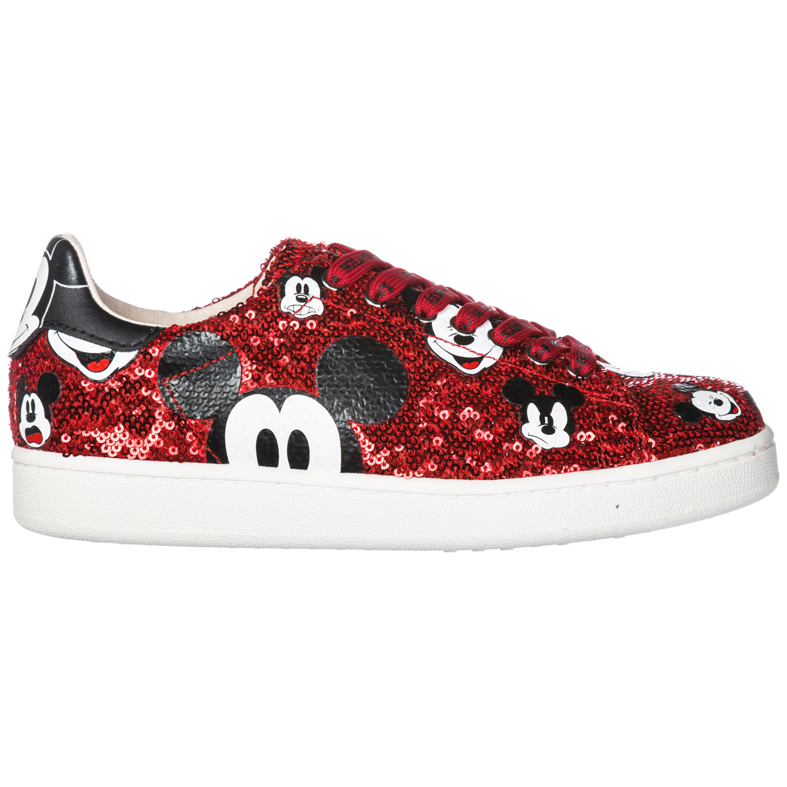 8f3ae43387c Chaussures baskets sneakers femme en cuir disney mickey mouse ...