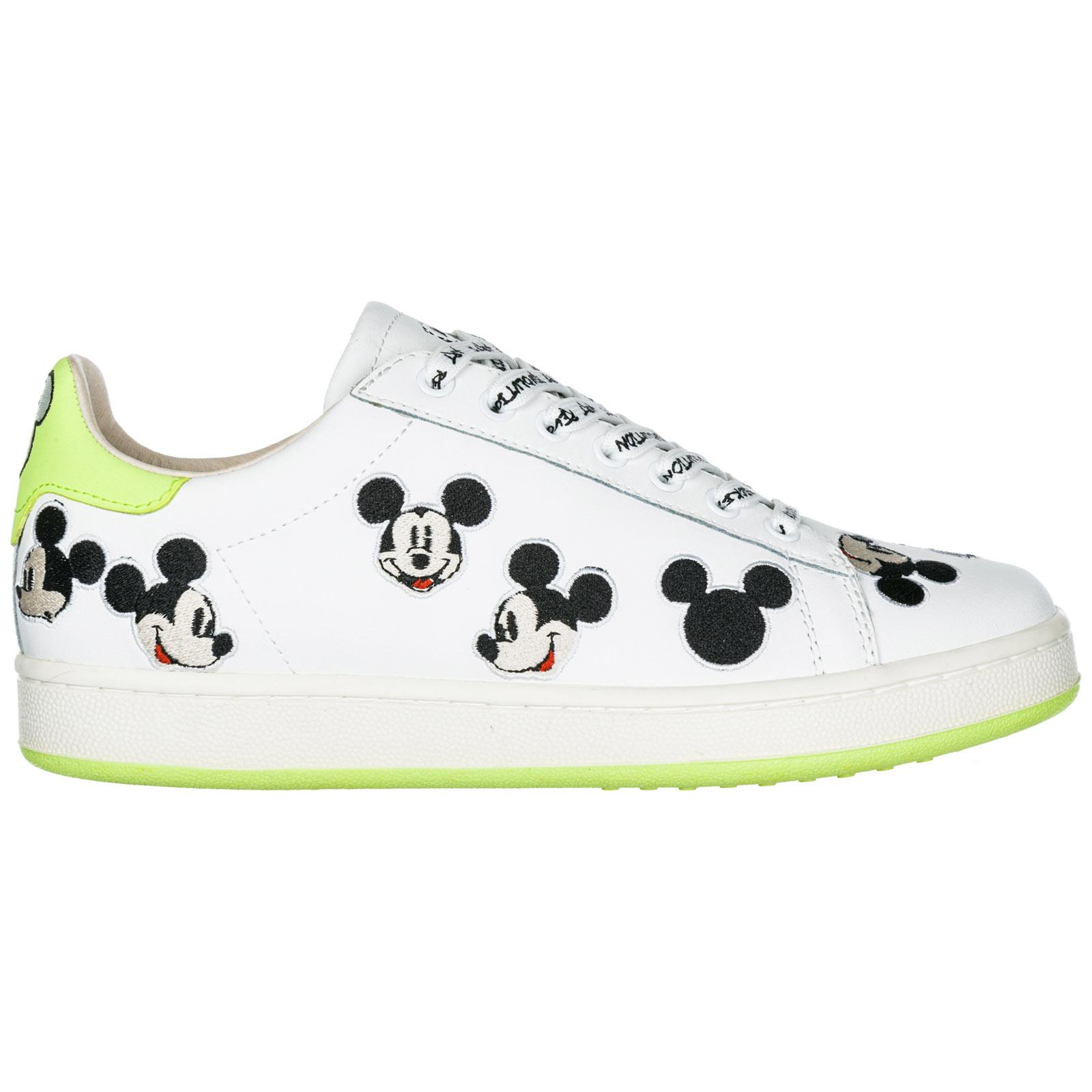 Mickey Turnschuhe Mouse Damenschuhe Leder Sneakers Disney Damen Schuhe PuTZiwXOk