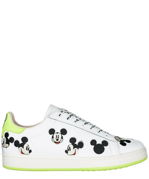 Sneakers Moa Master of Arts Disney Mickey Mouse MD310 white / green