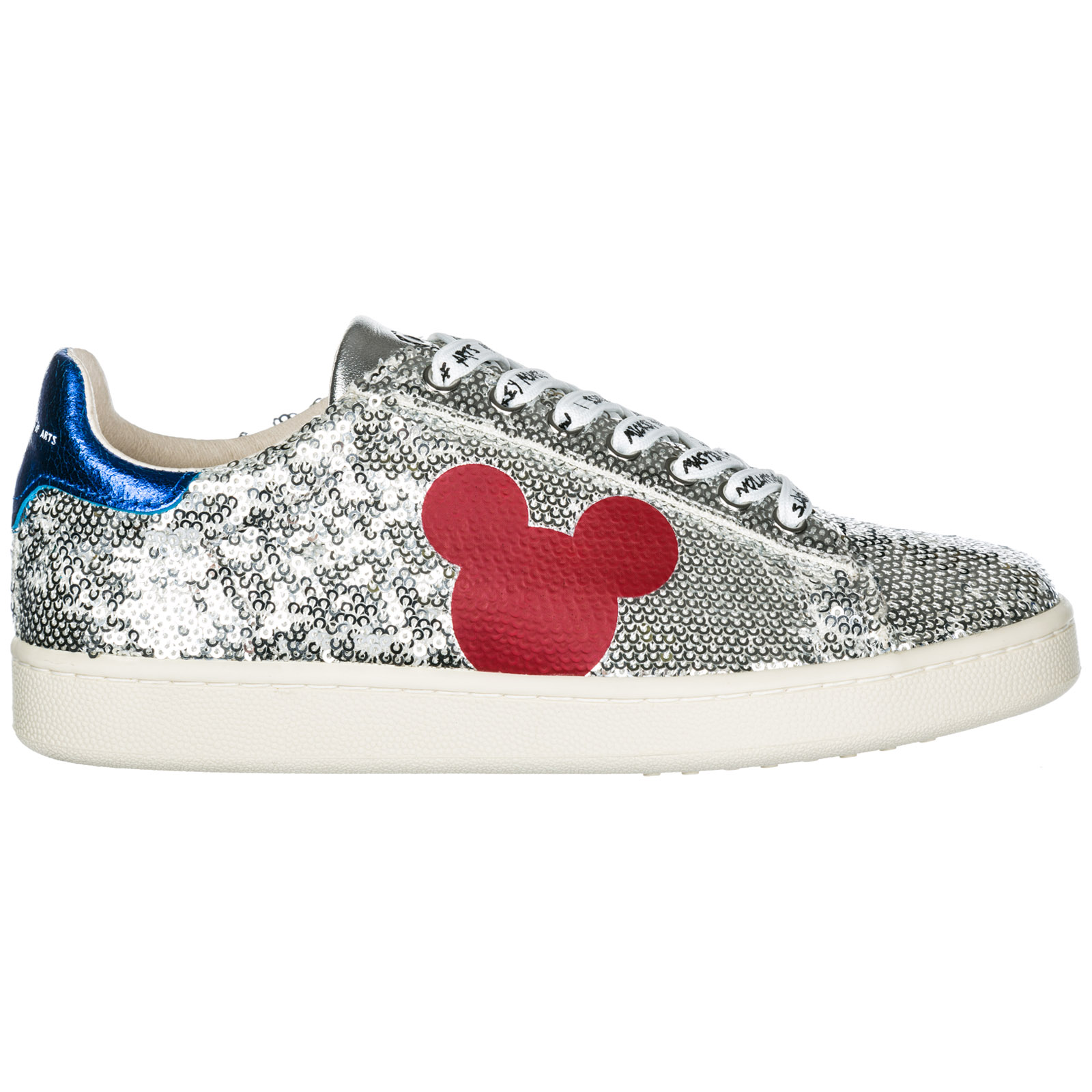 Sneakers Moa Master of Arts Disney Mickey Mouse MD326 silver ... 07a22cf405a