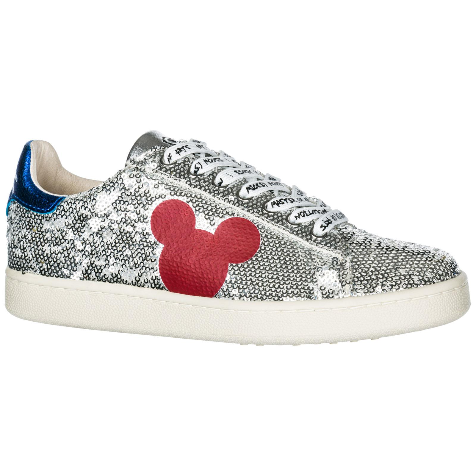Disney Mouse Damenschuhe Mickey Leder Schuhe Turnschuhe Damen Sneakers TFKJlc13u
