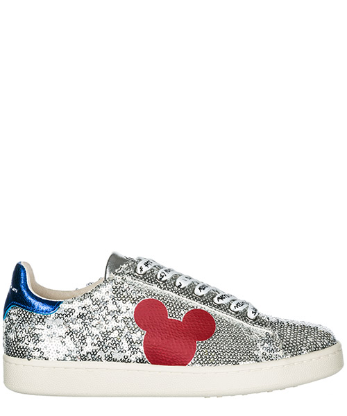 Sneakers Moa Master of Arts Disney Mickey Mouse MD326 silver