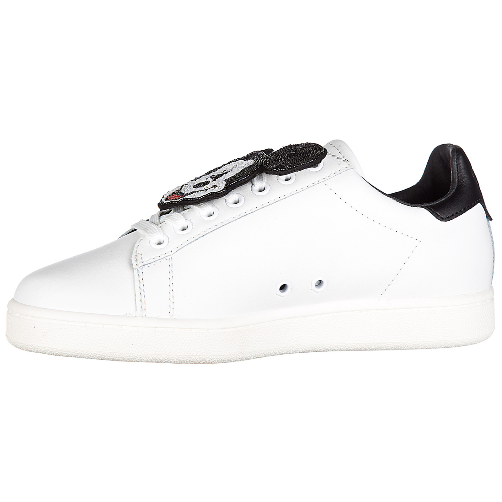 Women's shoes leather trainers sneakers action