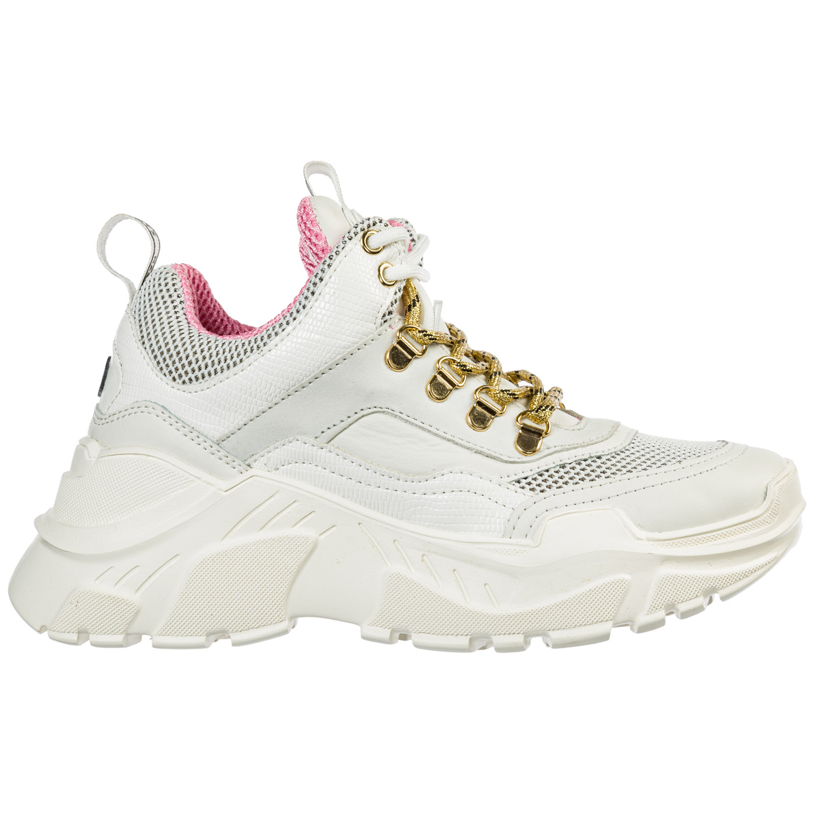 Moa Master Of Arts Women's Shoes Leather Trainers Sneakers In White