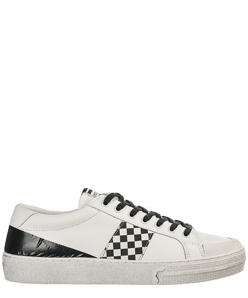 Sneakers Moa Master of Arts MP904 white leather / black chess