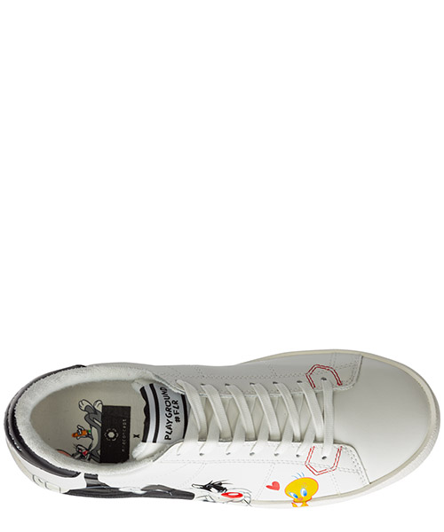 Chaussures baskets sneakers femme en cuir playground secondary image