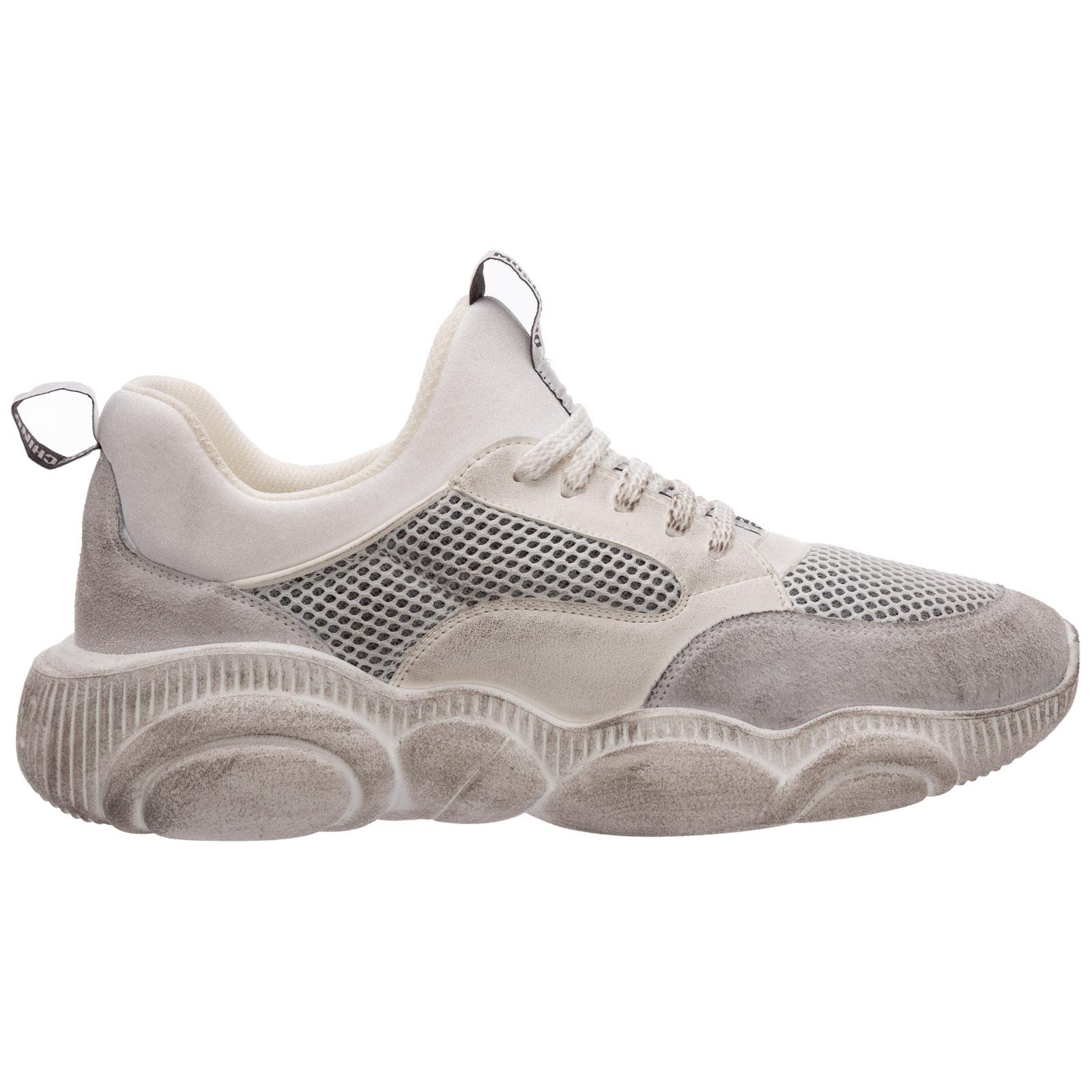 Scarpe sneakers donna in pelle teddy