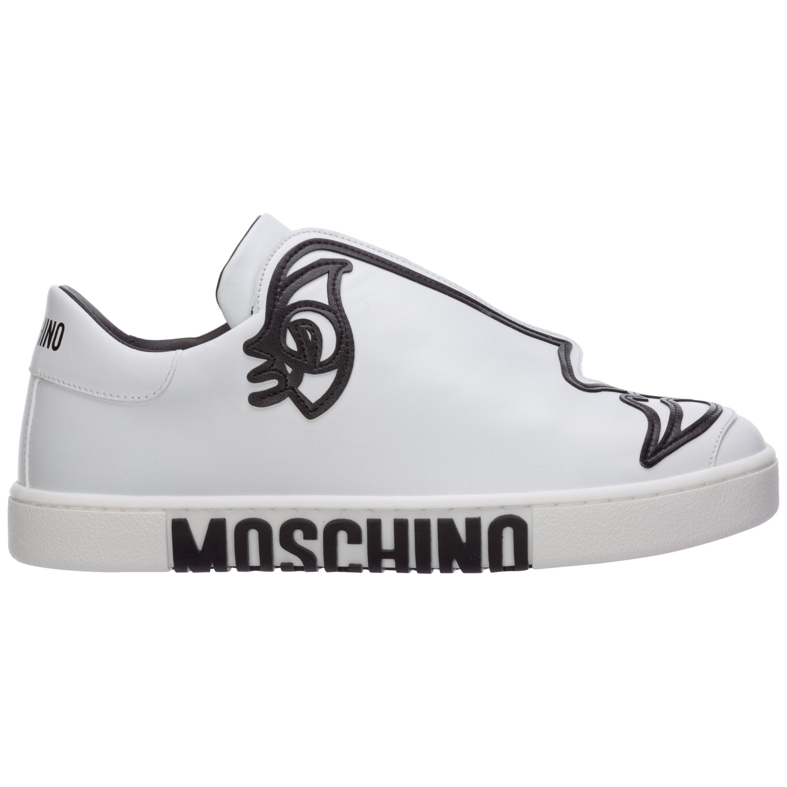 Sneakers Moschino woman's drawing