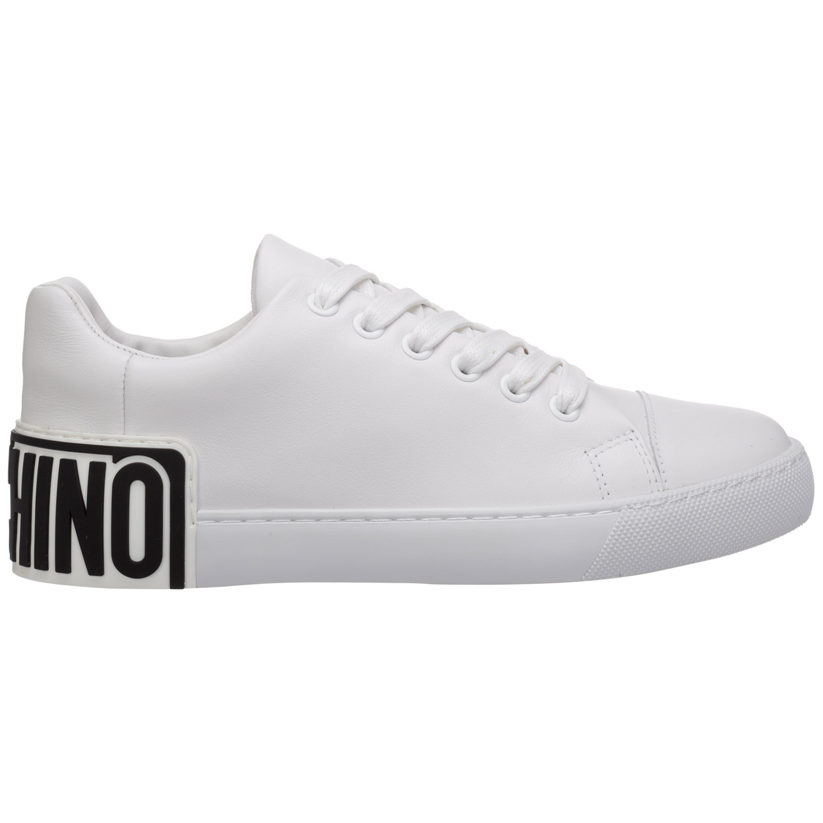 Moschino WOMEN'S SHOES LEATHER TRAINERS SNEAKERS