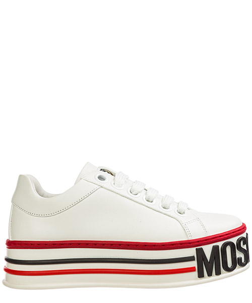 Wedge sneakers Moschino MA15045G18MF010A bianco