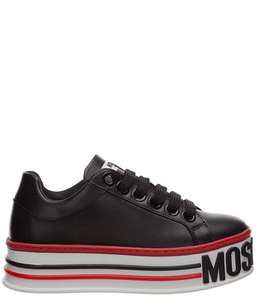 Wedge sneakers Moschino cassetta MA15045G1BMF000A nero