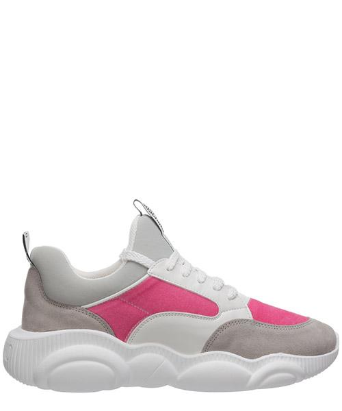 Sneakers Moschino teddy bear MA15103G1BMU160A bianco / rosa grey
