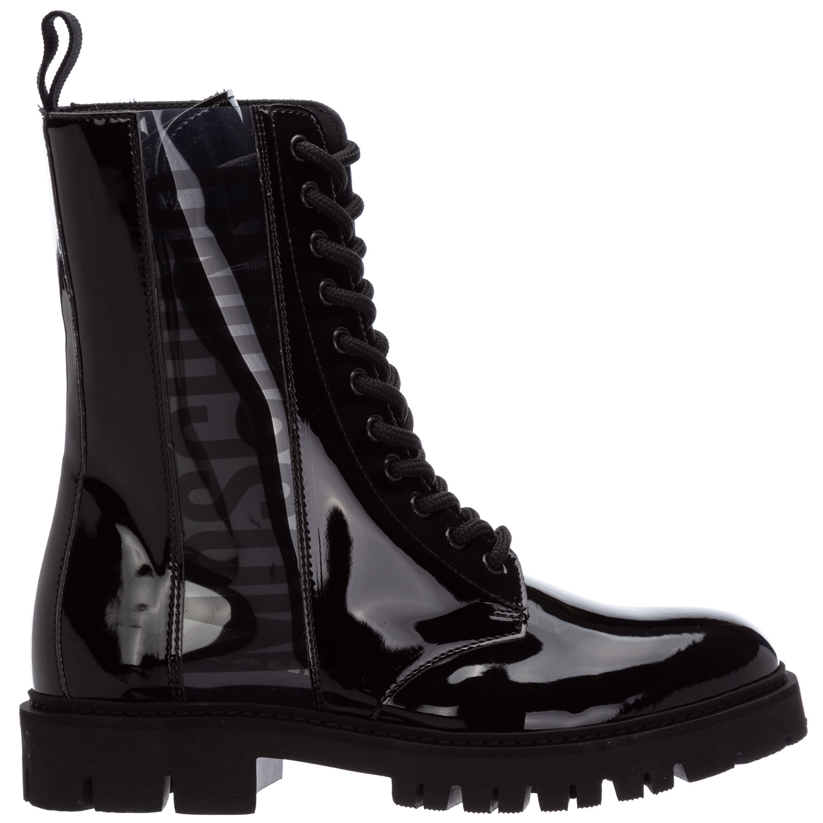 Moschino Boots WOMEN'S COMBAT BOOTS