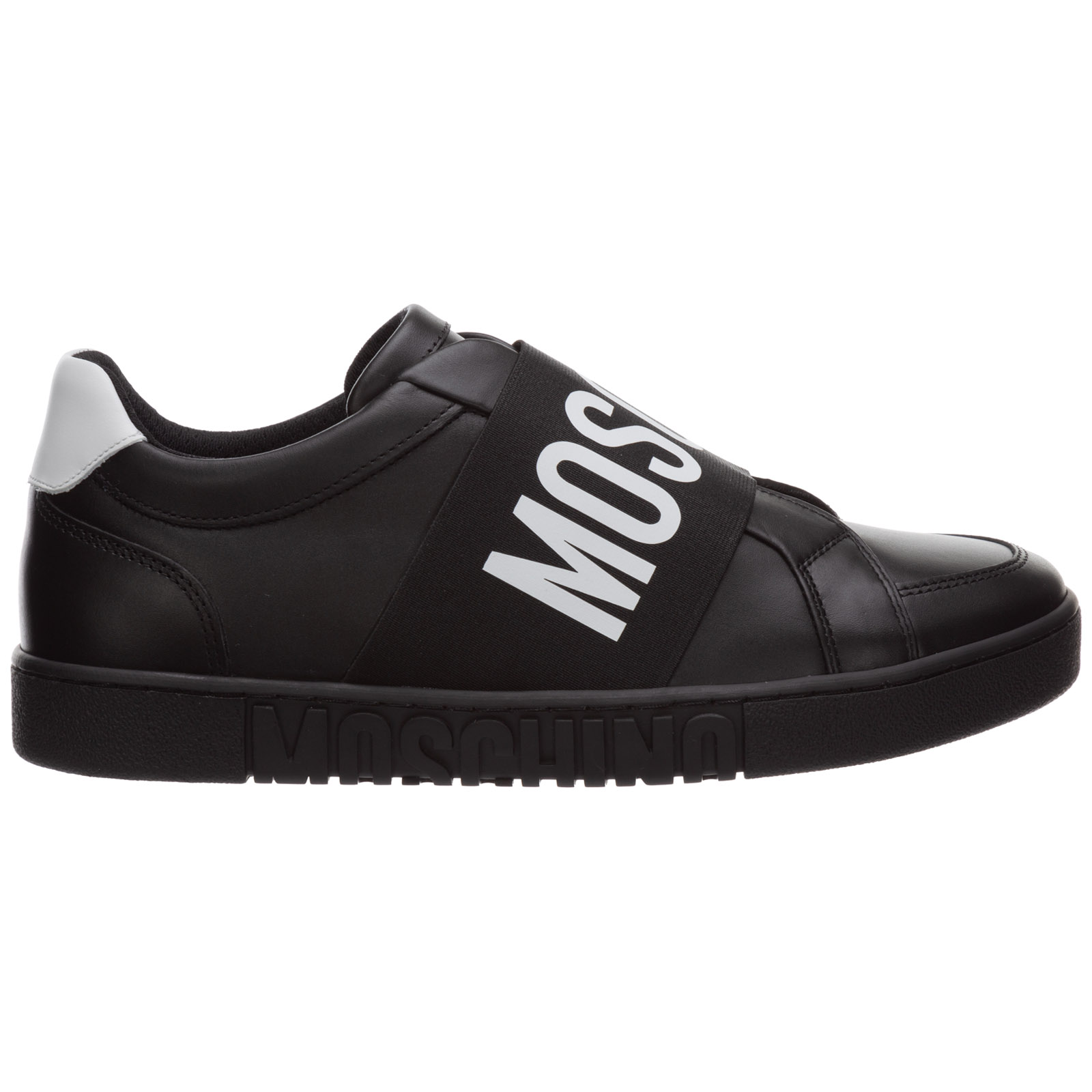 Moschino MEN'S SHOES LEATHER TRAINERS SNEAKERS LOGO