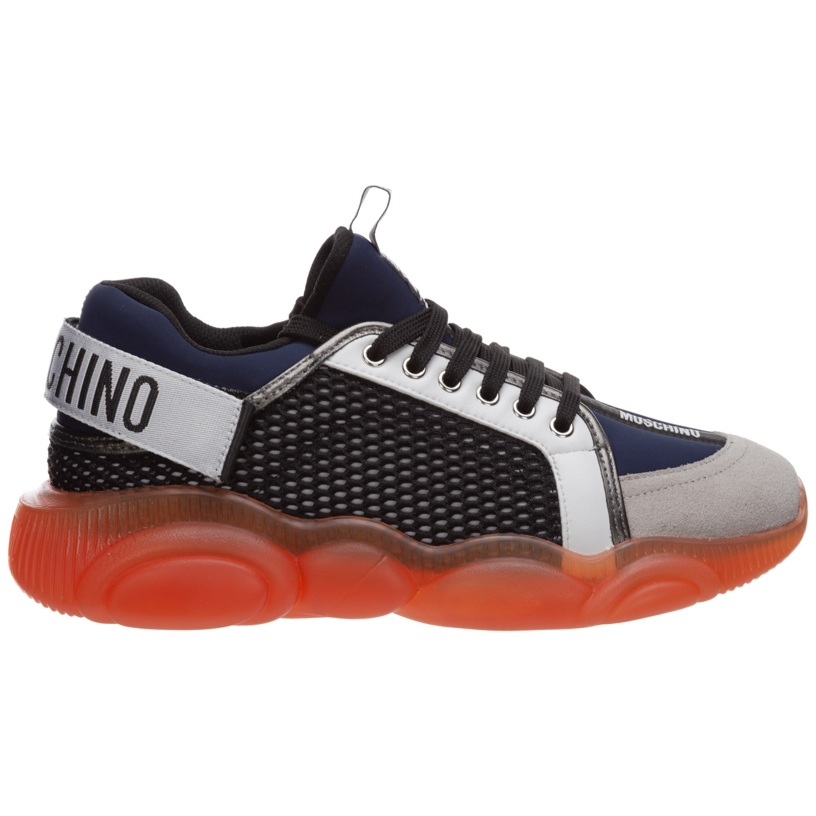Moschino MEN'S SHOES LEATHER TRAINERS SNEAKERS TEDDY ORSO