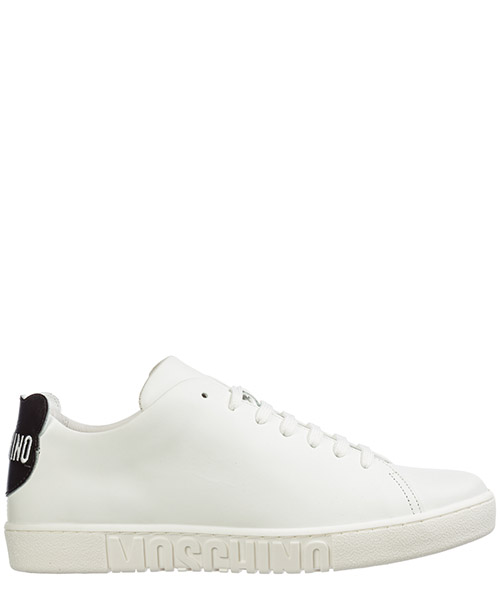 Sneakers Moschino patch teddy mb15022g08ga110a bianco