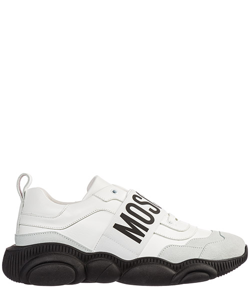 Sneakers Moschino teddy run mb15113g08ga410a bianco