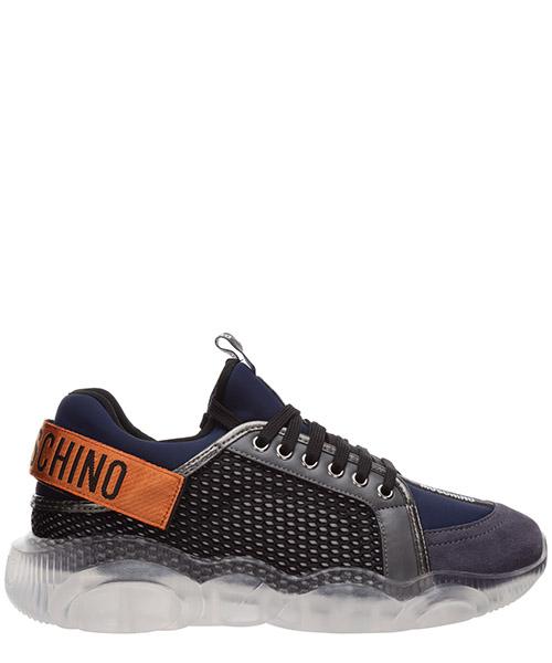 Sneakers Moschino orso MB15133G1BGJ200B nero / grigio blu