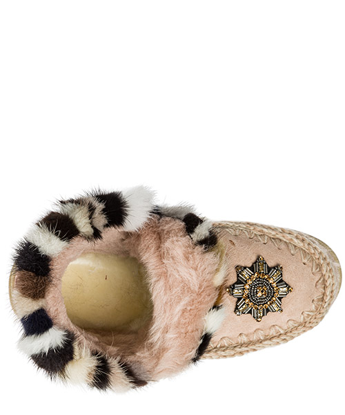 Stivaletti stivali donna in camoscio eskimo sneaker secondary image