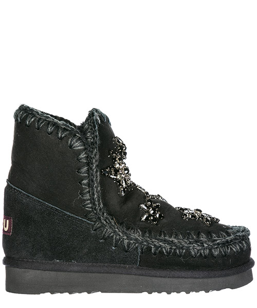 Demi-bottes Mou Eskimo 18 MU.ESKI18STARCR cracked black / grey
