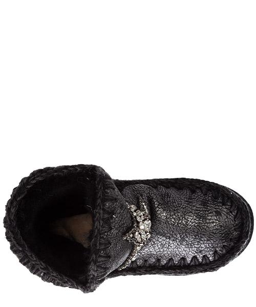 Damen leder stiefeletten stiefel ankle boots eskimo18 secondary image
