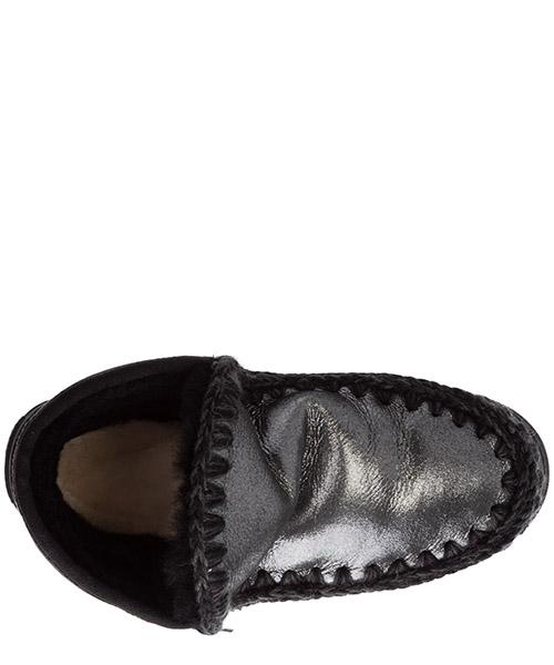 Damen leder stiefeletten stiefel ankle boots eskimo sneaker secondary image