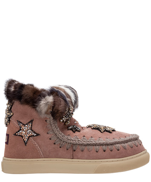 Stiefeletten Mou eskimo sneaker mu.fw111006a rosa
