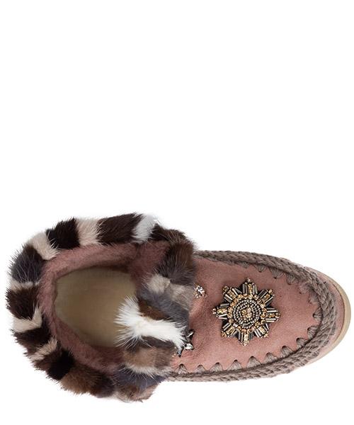 Damen wildleder stiefeletten stiefel ankle boots eskimo sneaker secondary image