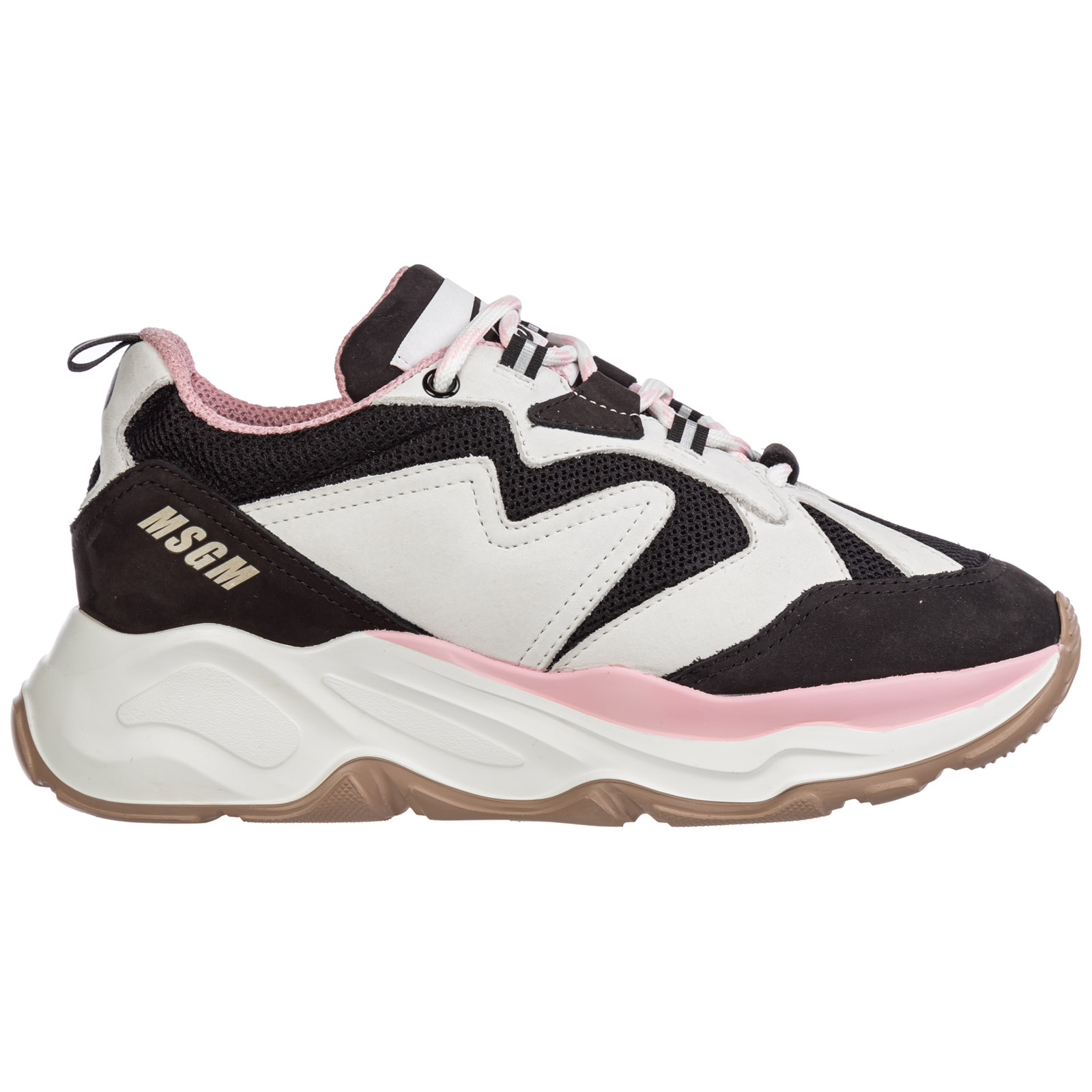 Msgm Sneakers WOMEN'S SHOES SUEDE TRAINERS SNEAKERS ATTACK