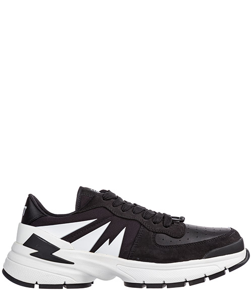 Sneaker Neil Barrett Tiger bolt PBCT331M9008 1124 nero