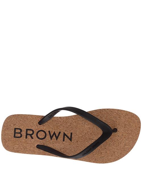 Herren gummi flip flops zehentrenner sandalen  haston cork secondary image