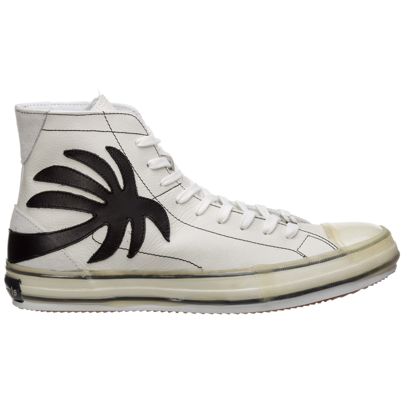 Palm Angels MEN'S SHOES HIGH TOP LEATHER TRAINERS SNEAKERS VULCANIZED