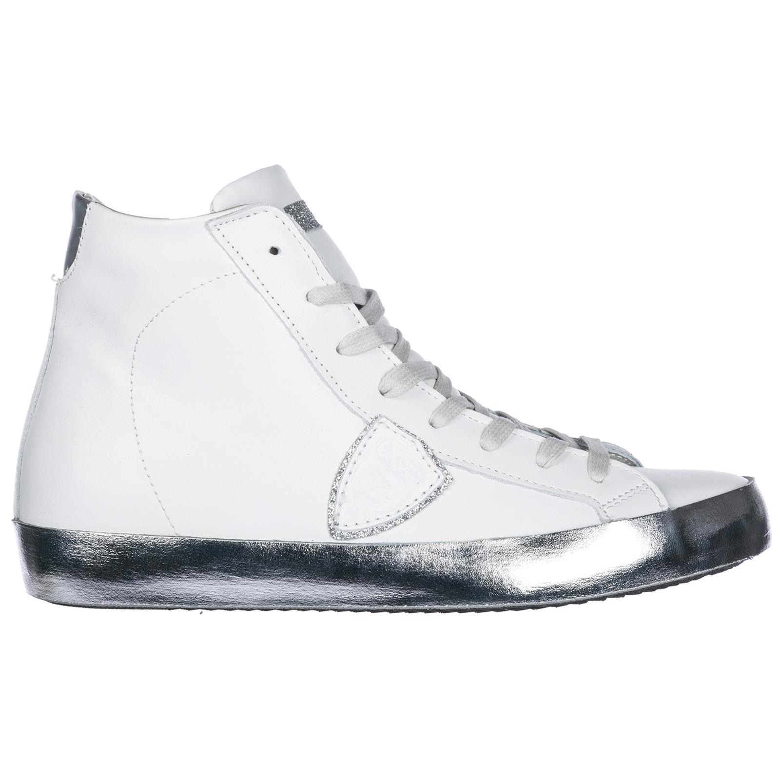 Scarpe sneakers alte donna in pelle paris h