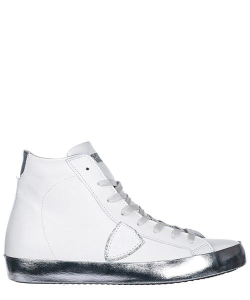 Chaussures baskets sneakers hautes femme en cuir paris h