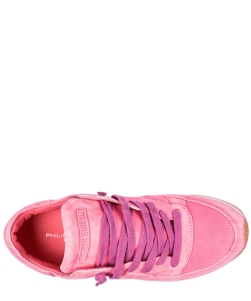Chaussures baskets sneakers femme en daim tropez secondary image
