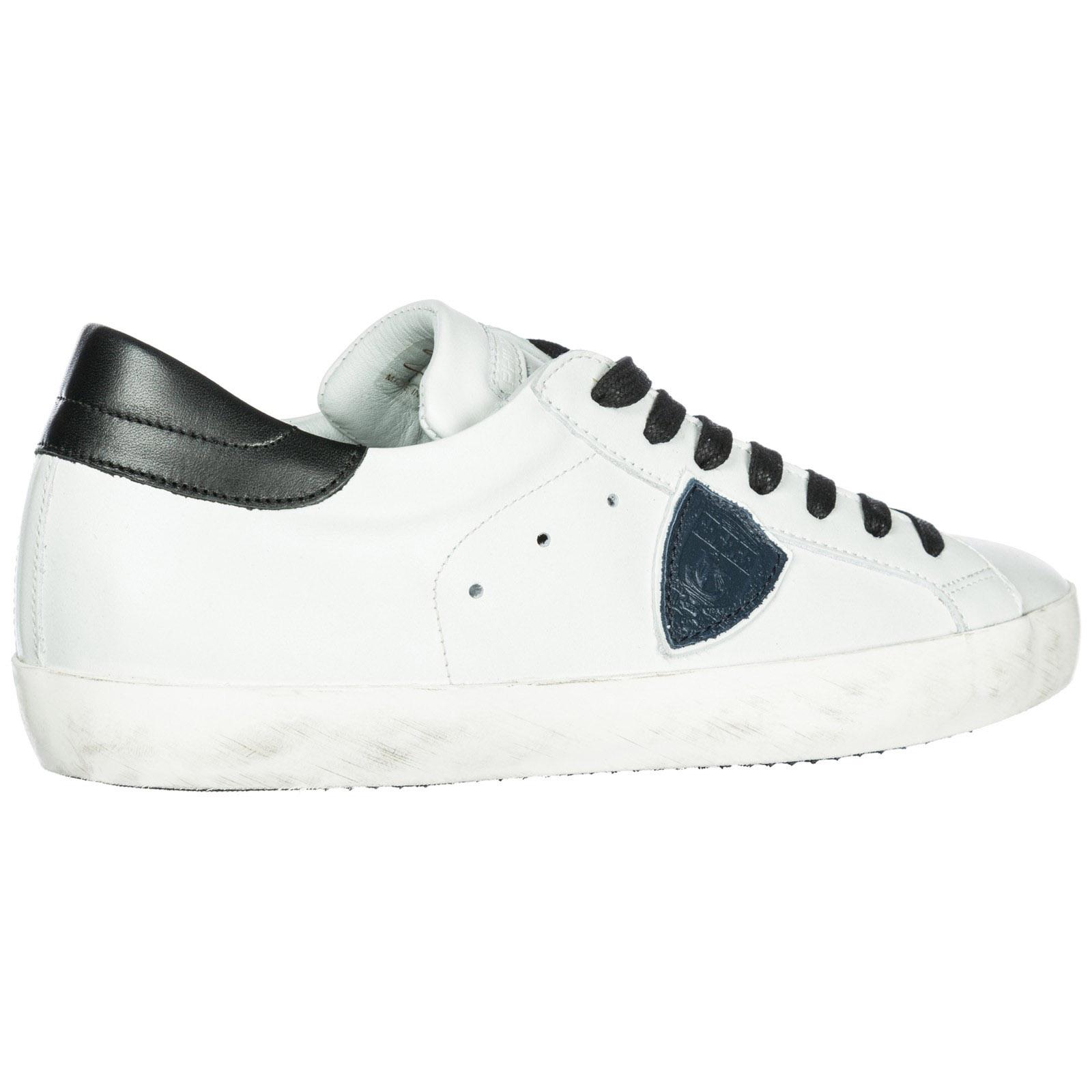 Sneakers Philippe Model A18ICLLUV058 blanc   bleu   noir  47f8c8e3626