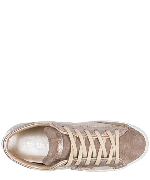 Scarpe sneakers donna in pelle paris glitter secondary image