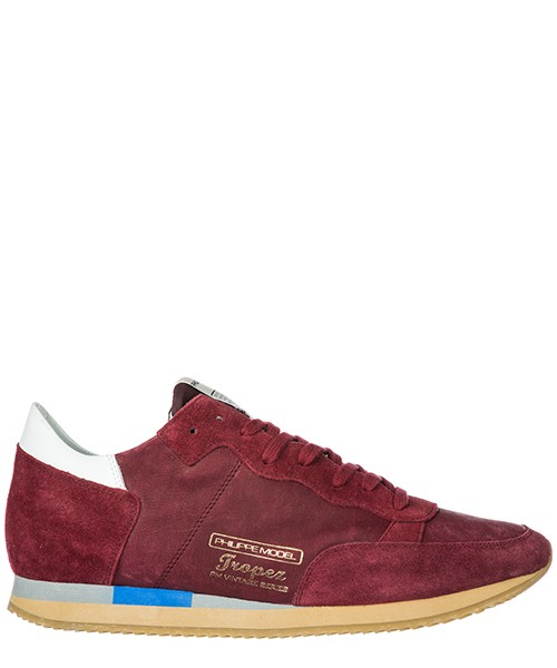 Basket Philippe Model A18ITVLUWW05 bordeaux