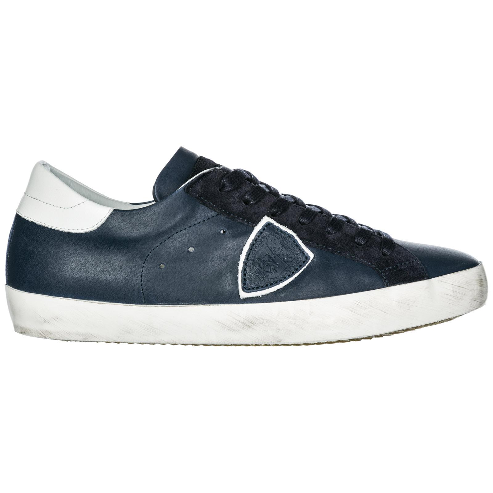 Sneakers Philippe Model Paris A19ECLLUV087 veau bleu  7b73898b089