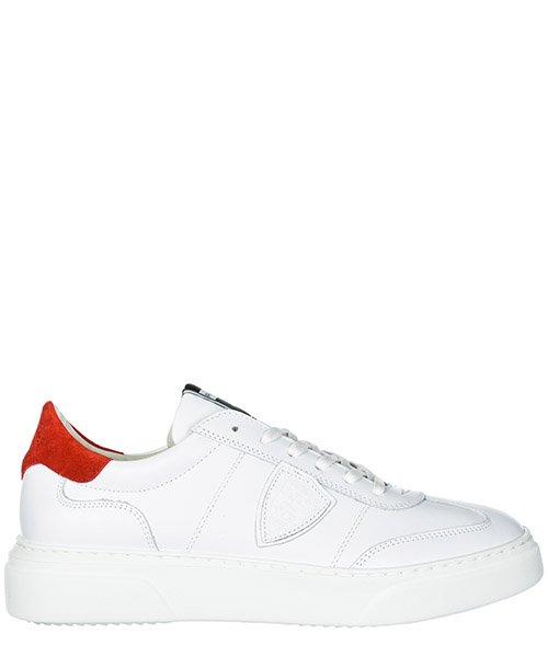 Basket Philippe Model Temple A19EBALUV022 blanc rouge