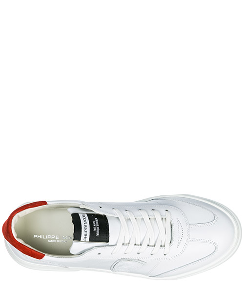 Men's shoes leather trainers sneakers temple secondary image