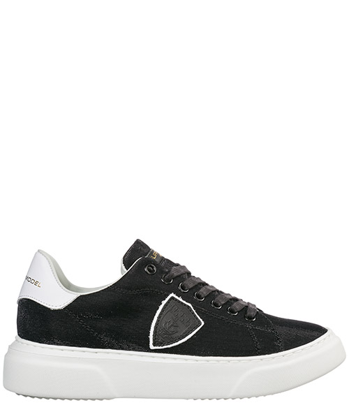 Sneakers Philippe Model temple a19ebgldgx03 lurex noir