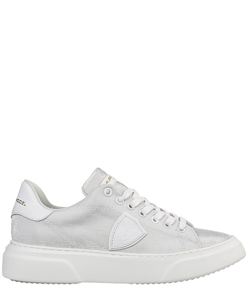 Sneakers Philippe Model temple a19ebgldgx05 lurex argent