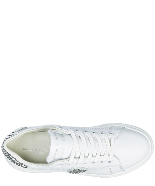 Women's shoes leather trainers sneakers temple secondary image