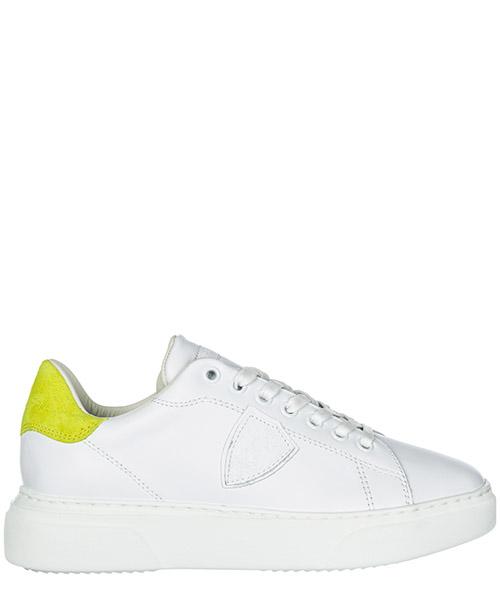 Sneakers Philippe Model Temple A19EBGLDVN02 veau neon blanc jaune