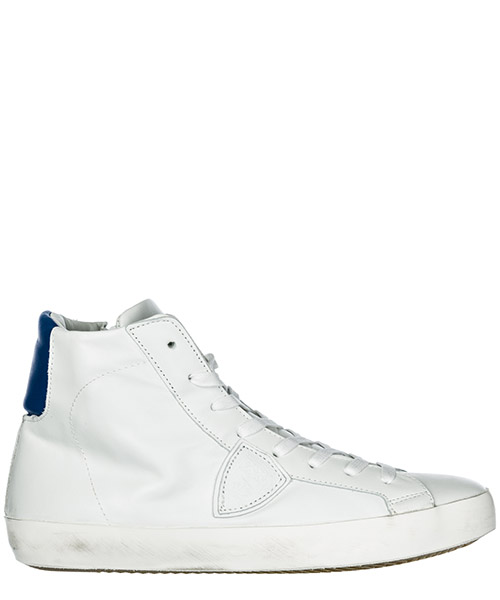 Sneakers alte Philippe Model Paris A19ECLHUVN11 veau neon blanc bluette